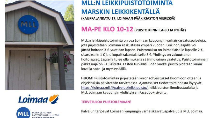 MLL Loimaa leikkipuistotoiminta 2021